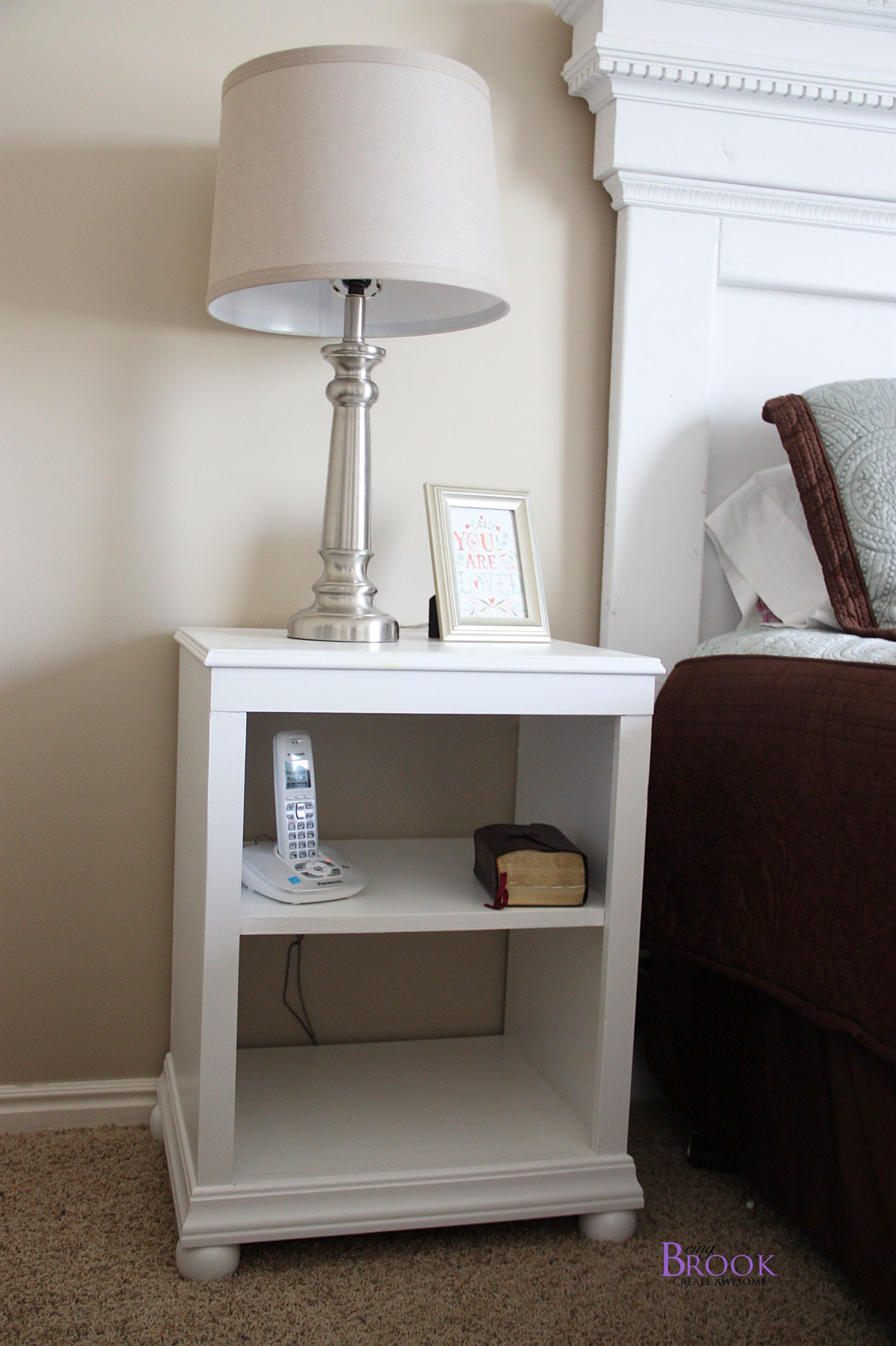 Ana White Katie Nightstand Open Shelf Diy Projects