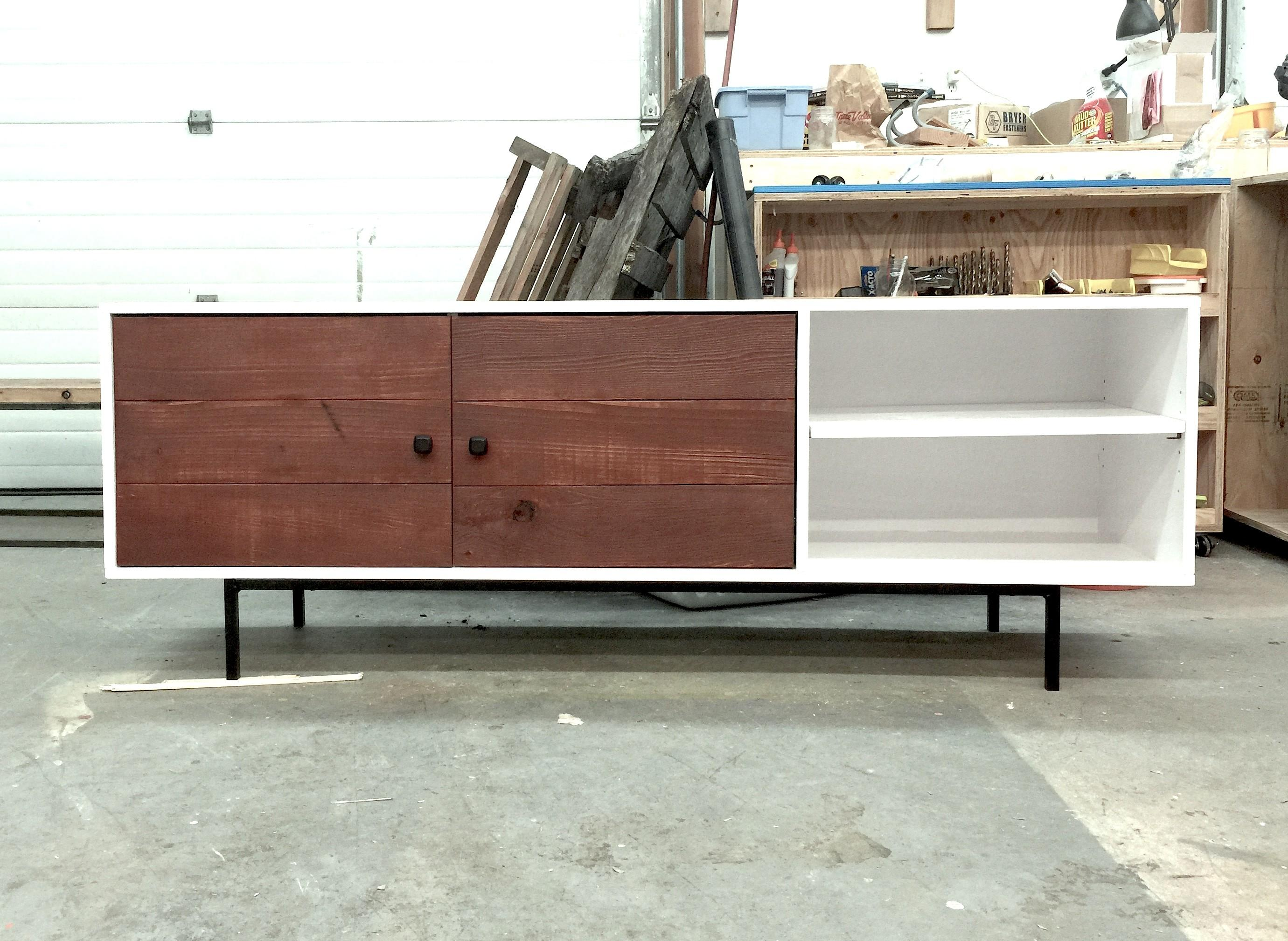 Ana White Long Modern Media Console Entertainment