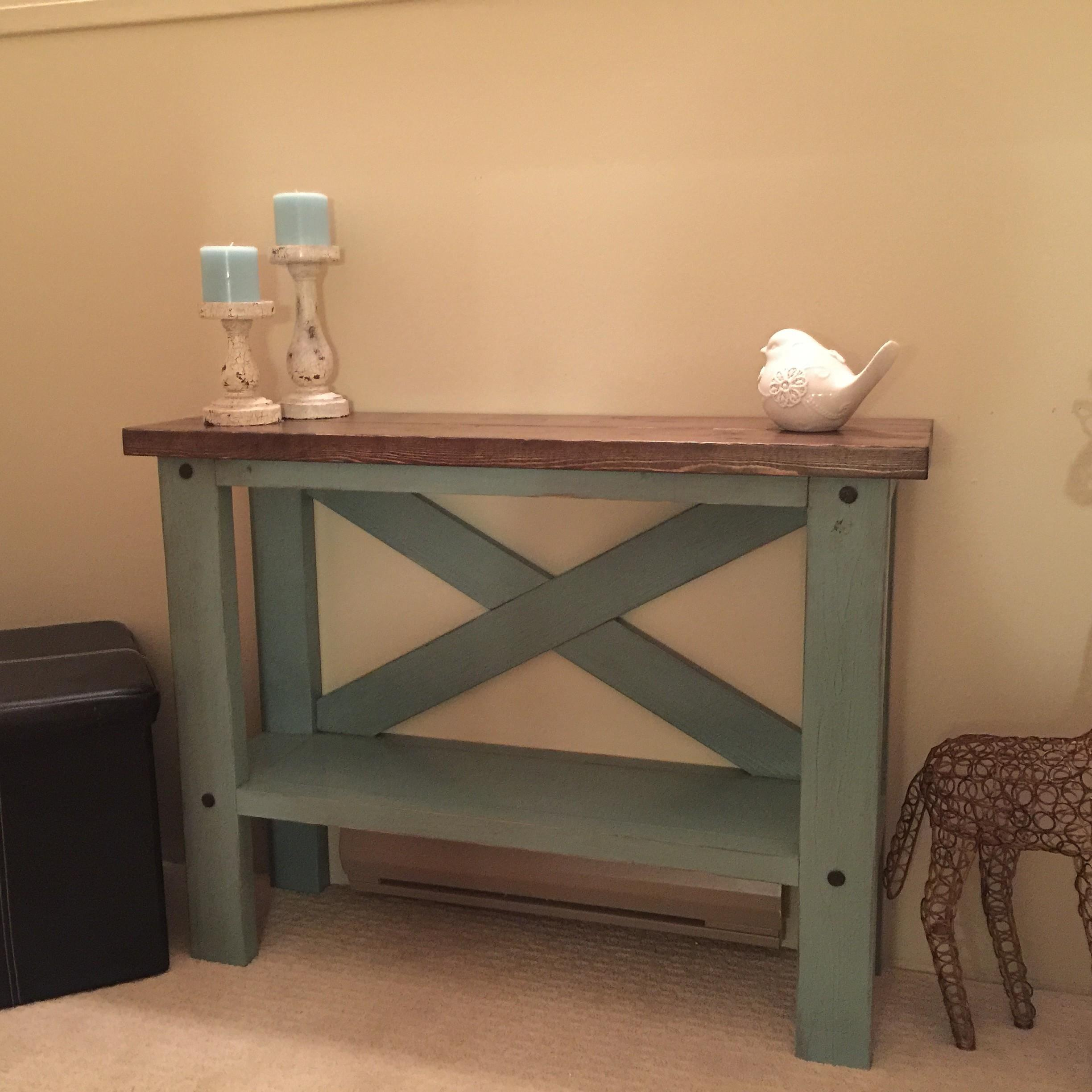 Ana White Mini Console Table Diy Projects