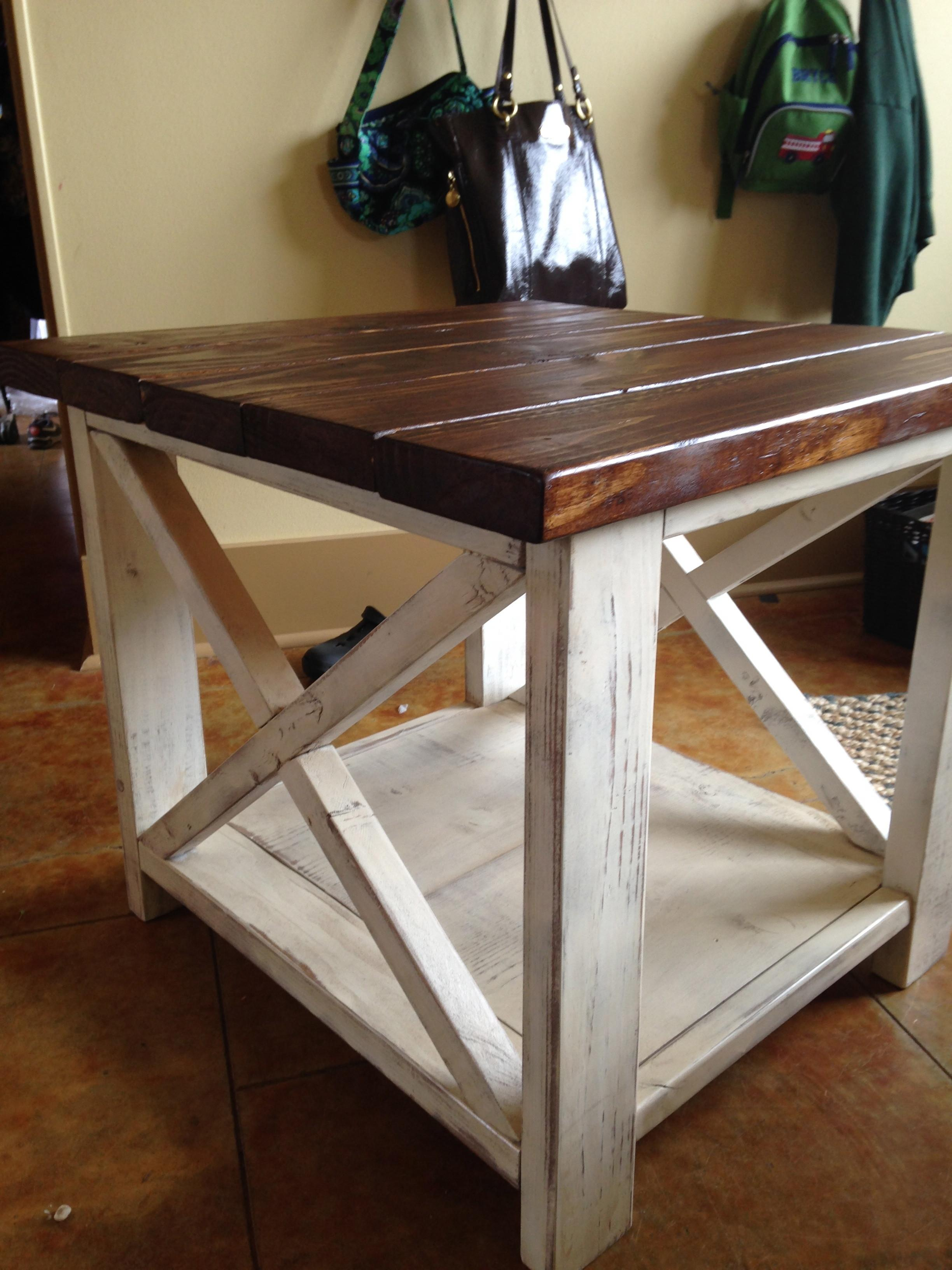 Ana White Rustic Side Table Diy Projects