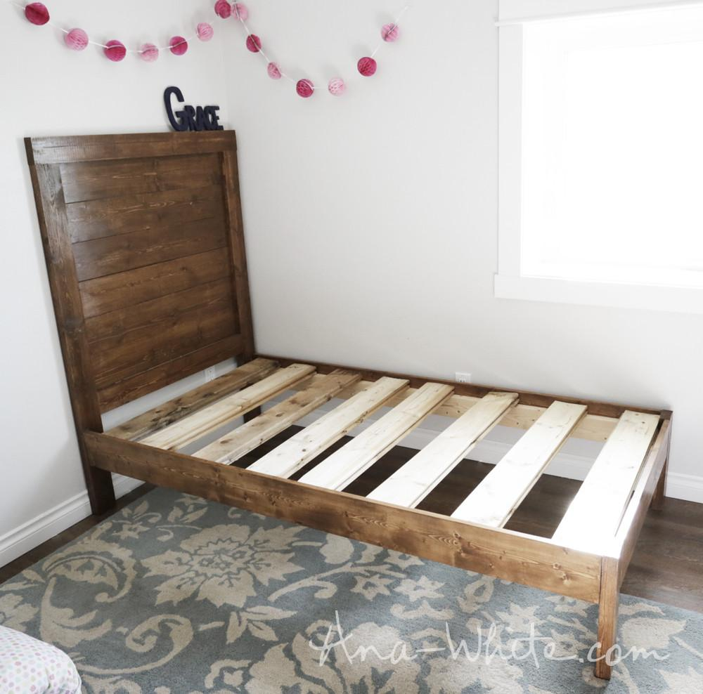 Ana White Simple Planked Wood Bed Diy Projects