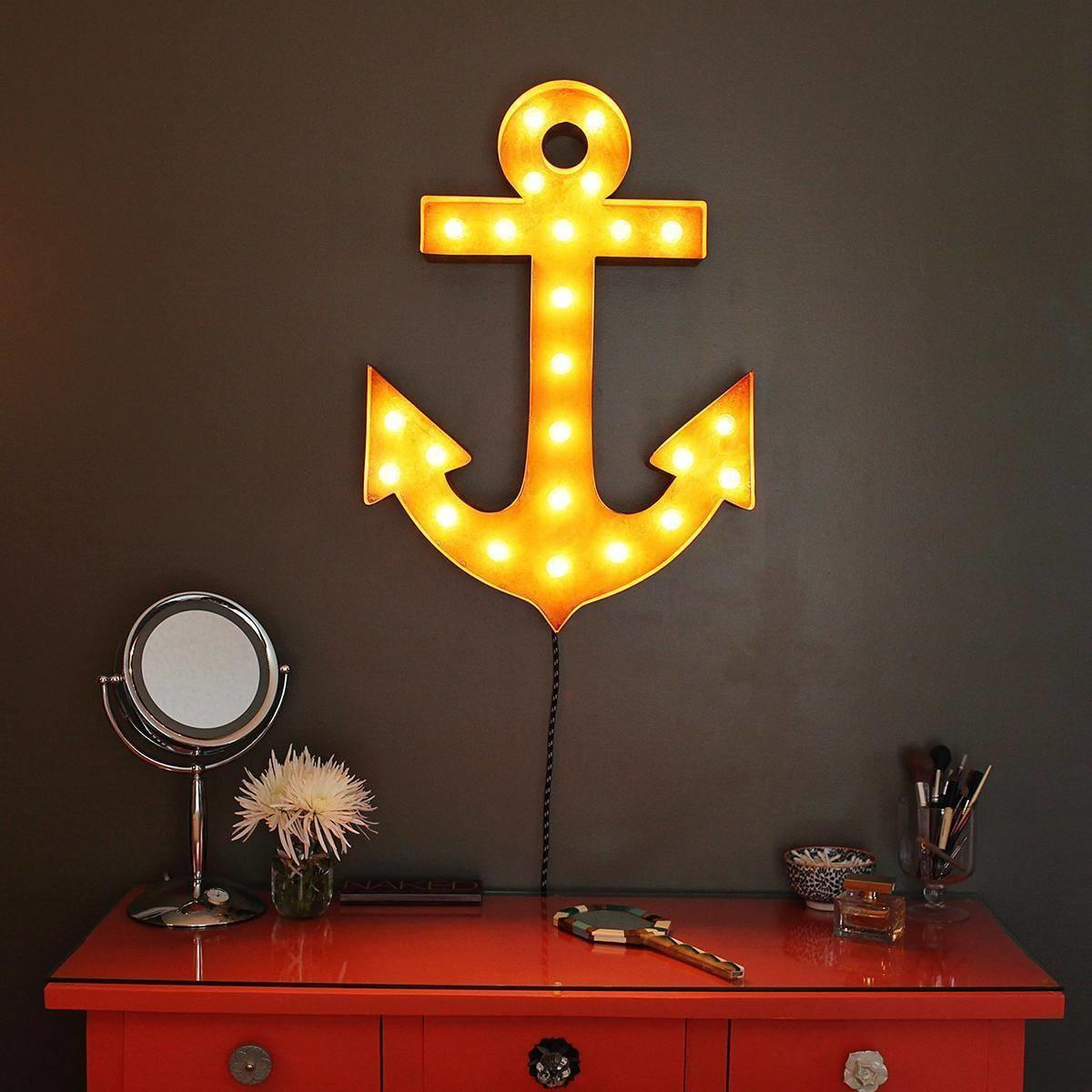 Anchor Vintage Marquee Lights Sign Rustic Buy