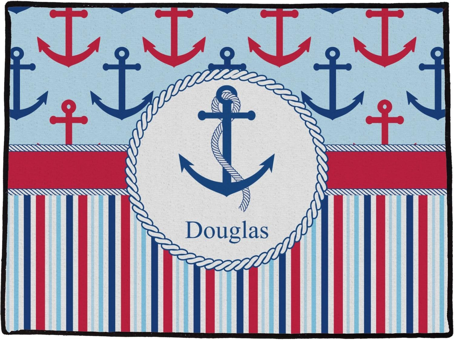 Anchors Stripes Doormat X36 Personalized