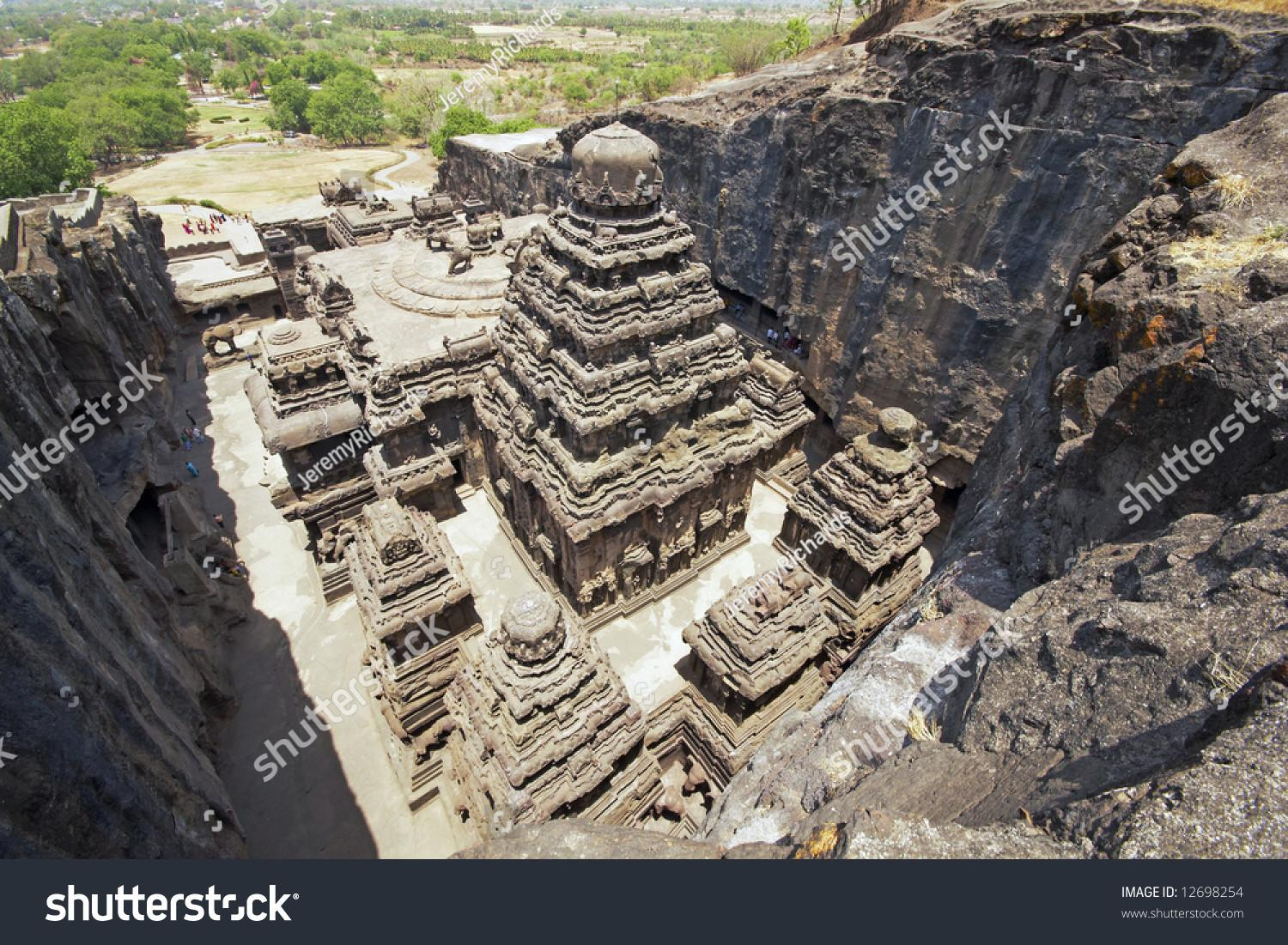 Ancient Hindu Temple Kailas Carved Out Solid