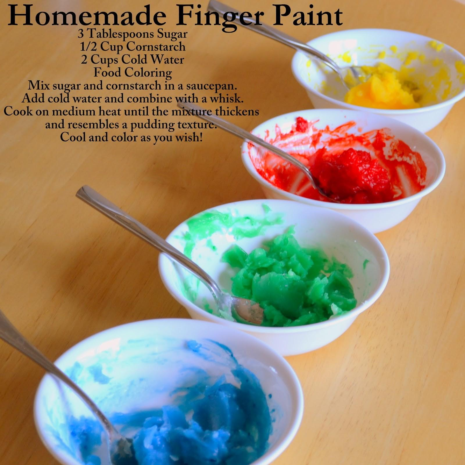Angela Strand Homemade Finger Paint