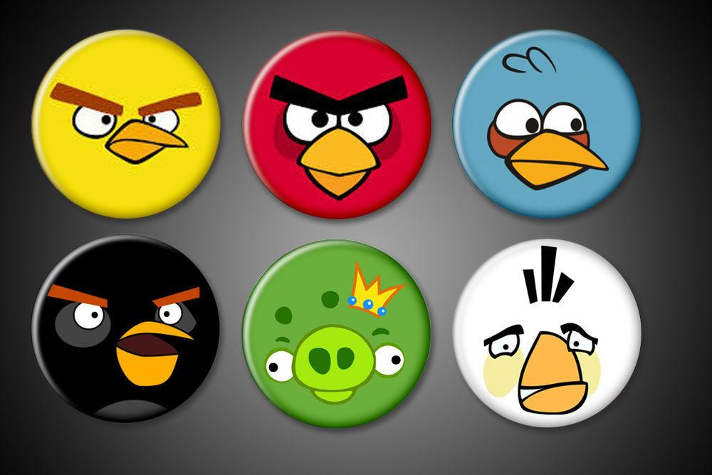 Angry Bird Magnets Game Set Black Bomb Red Yellow