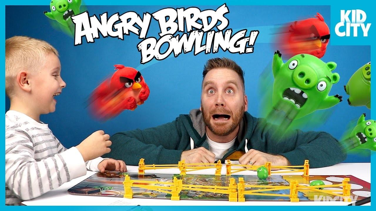 Angry Birds Movie Board Game Challenge Unboxing Play