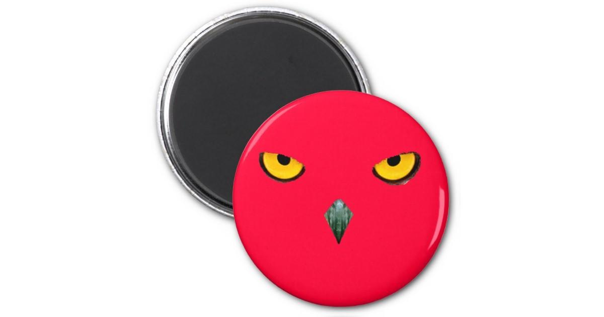 Angry Red Bird Round Magnet Zazzle