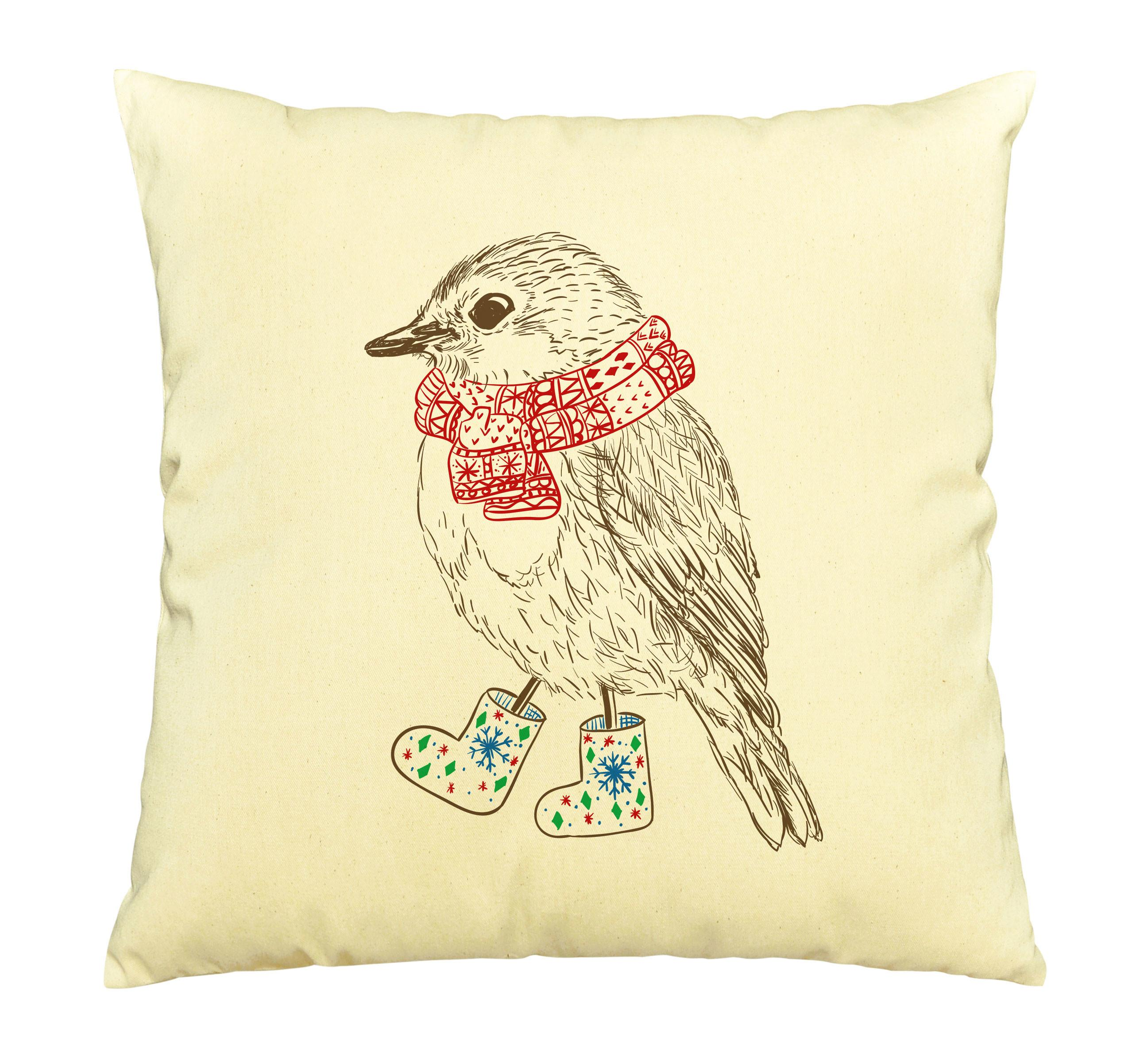 Animals Sweater Print Cotton Throw Pillows Cover