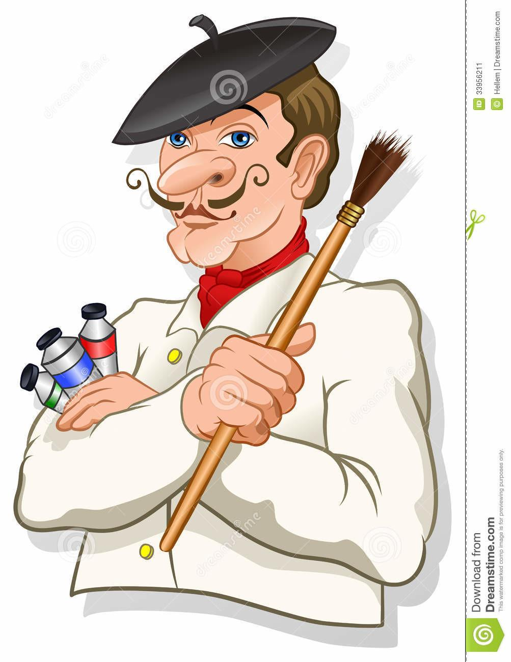 Animated Painter Clipart