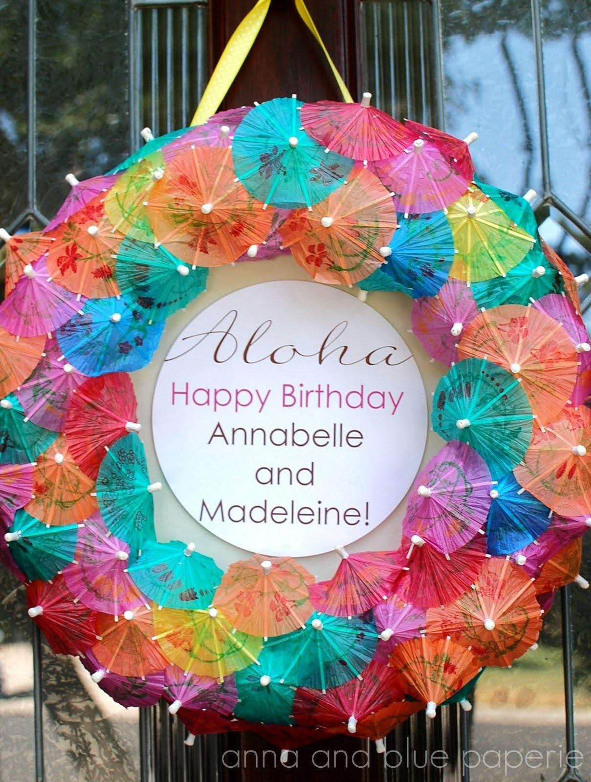Anna Blue Paperie Aloha Summer Birthday Party Part One