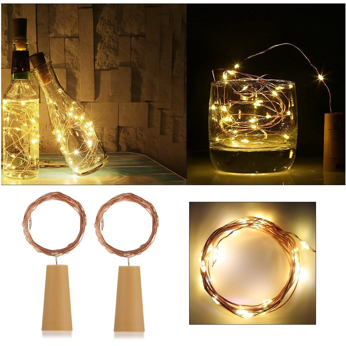 Ansaw Recycle Wine Bottle Lights Pro Pack 20leds