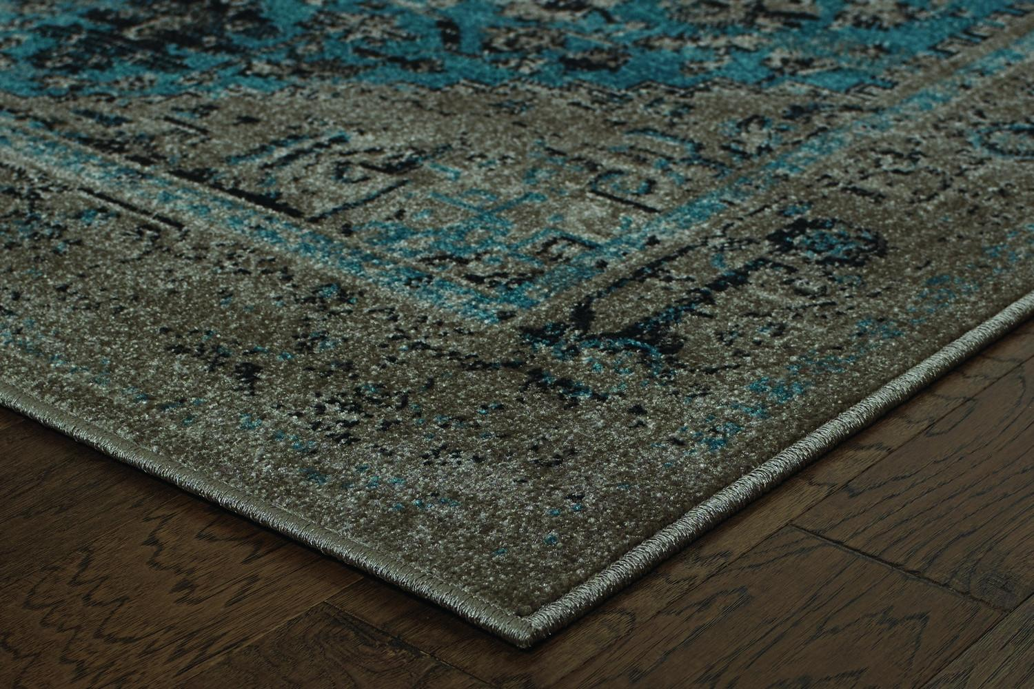 Anthem Grey Overdyed Traditional Area Rug