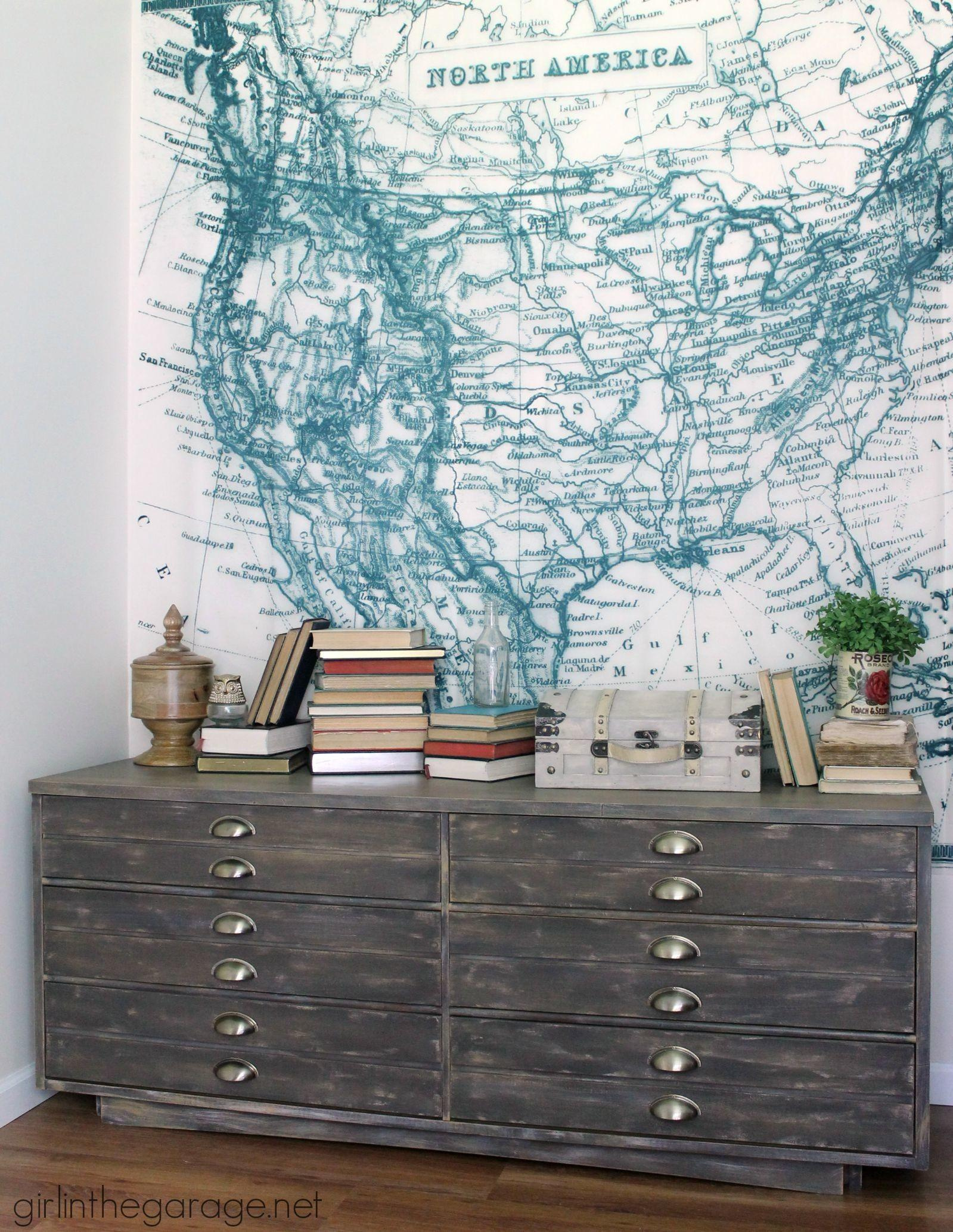 Anthropologie Inspired Industrial Dresser Girl