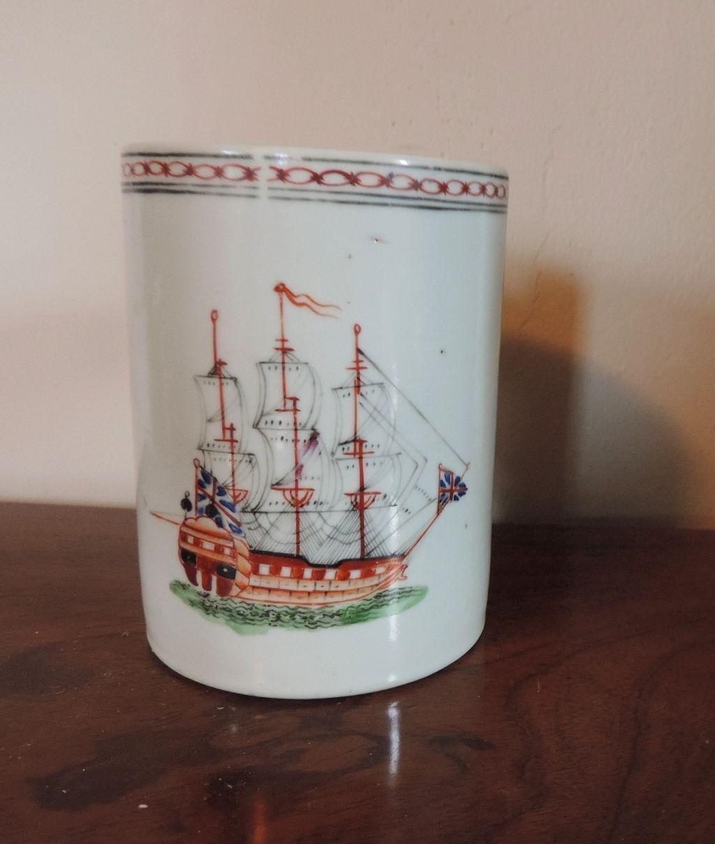 Antique 18th Century Chinese Export Porcelain Mug