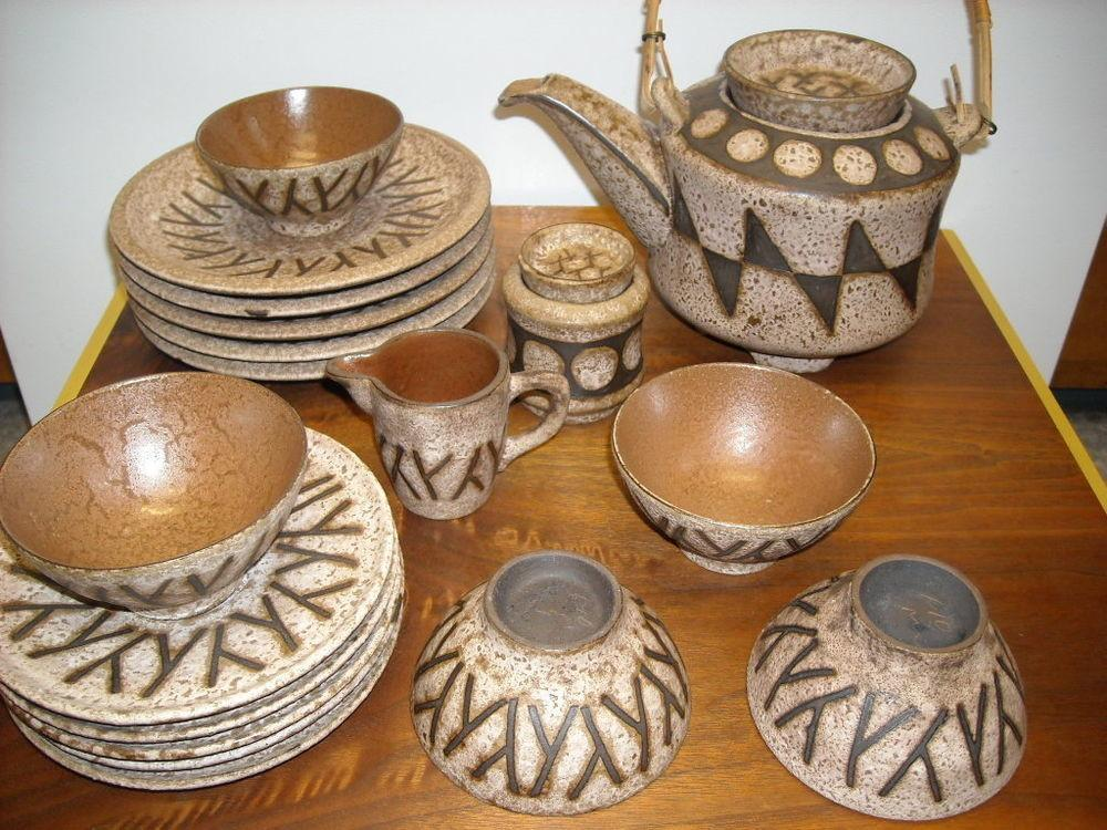 Antique 1950s Mid Century Modern West Germany Art Pottery