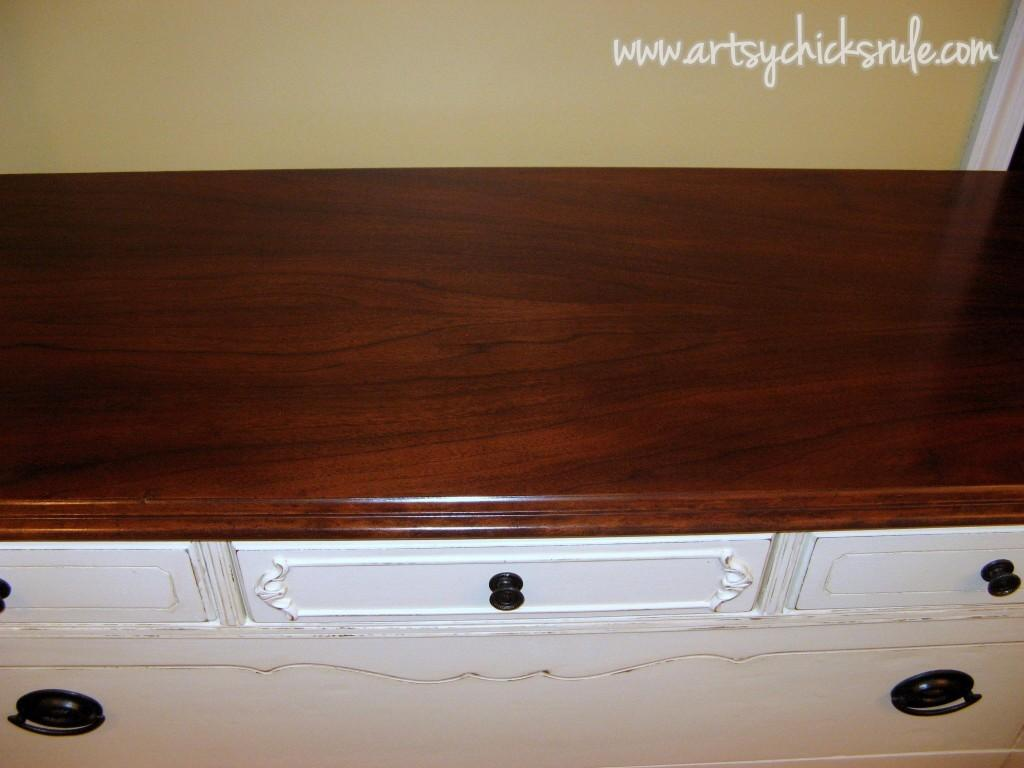 Antique Dresser Makeover Stripped Restained Repainted