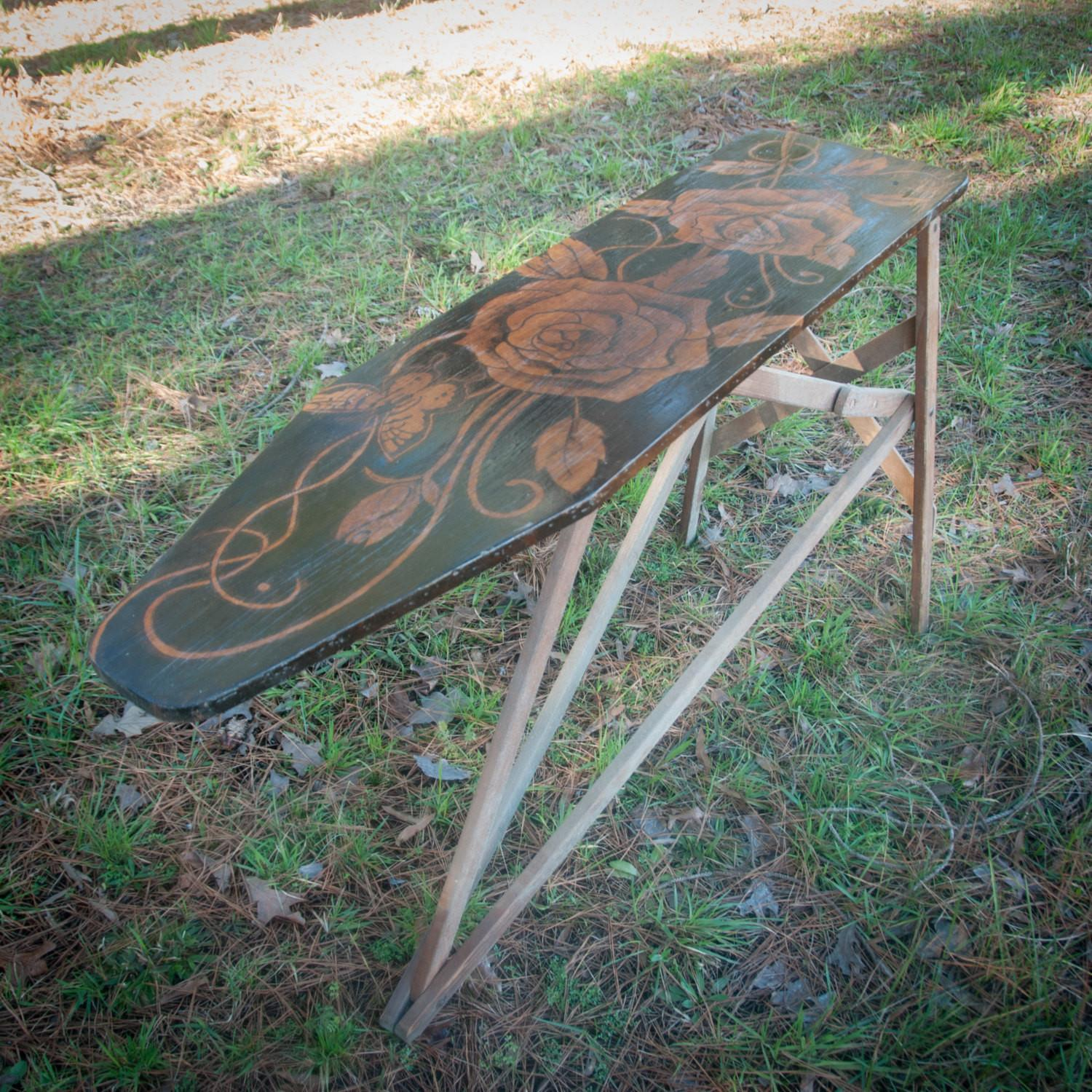 Antique Furniture Ironing Board Wood Rustic