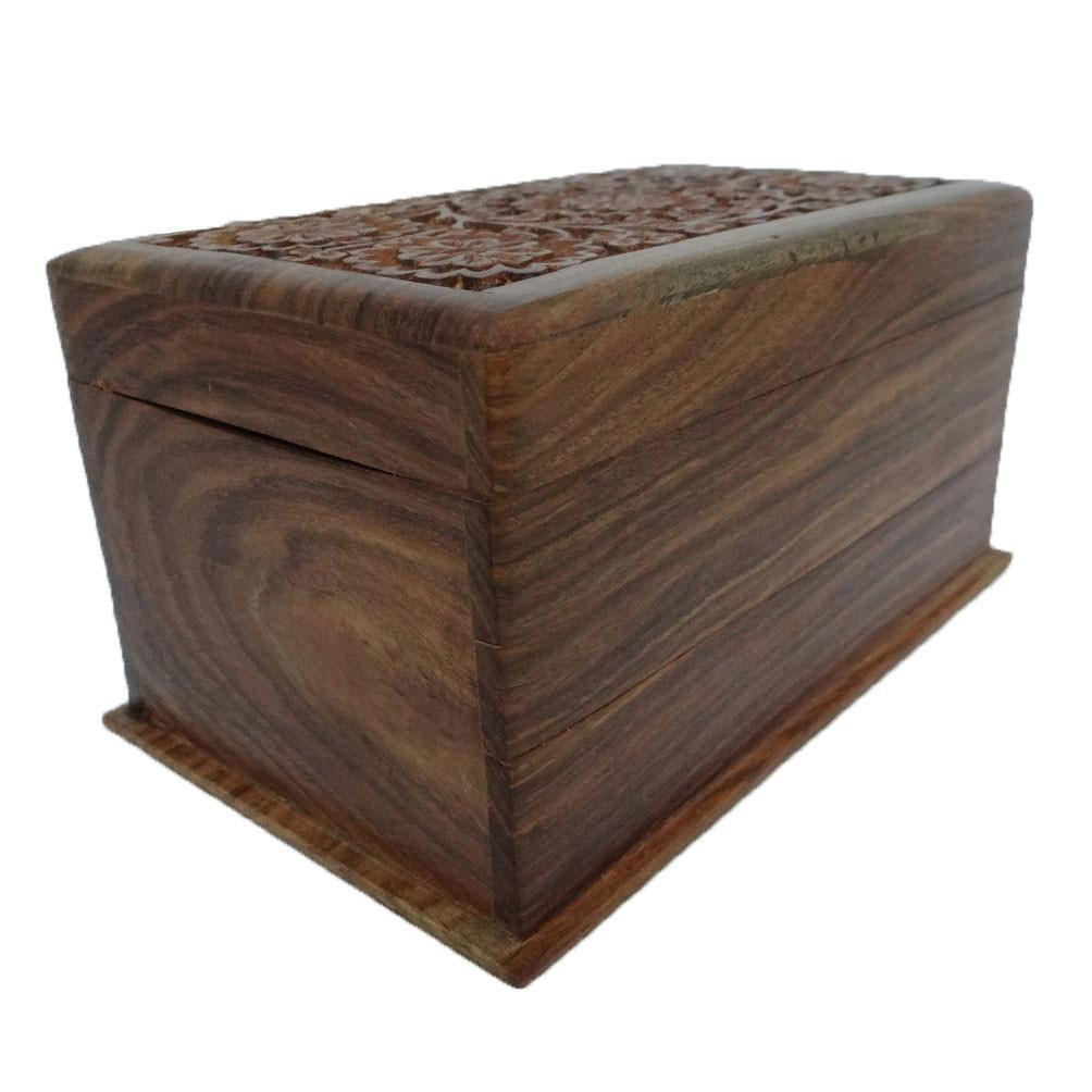 Antique Handmade Wooden Box Vintage Style Small Jewelry