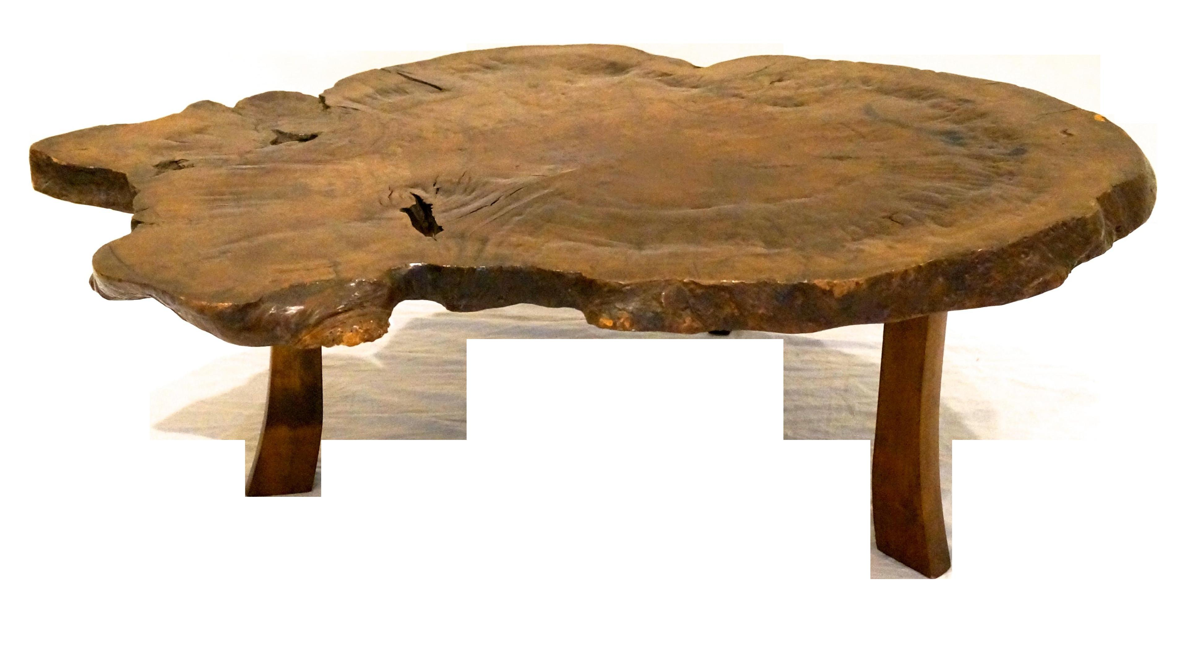 Antique Japanese Exotic Wood Slice Live Edge Table Chairish