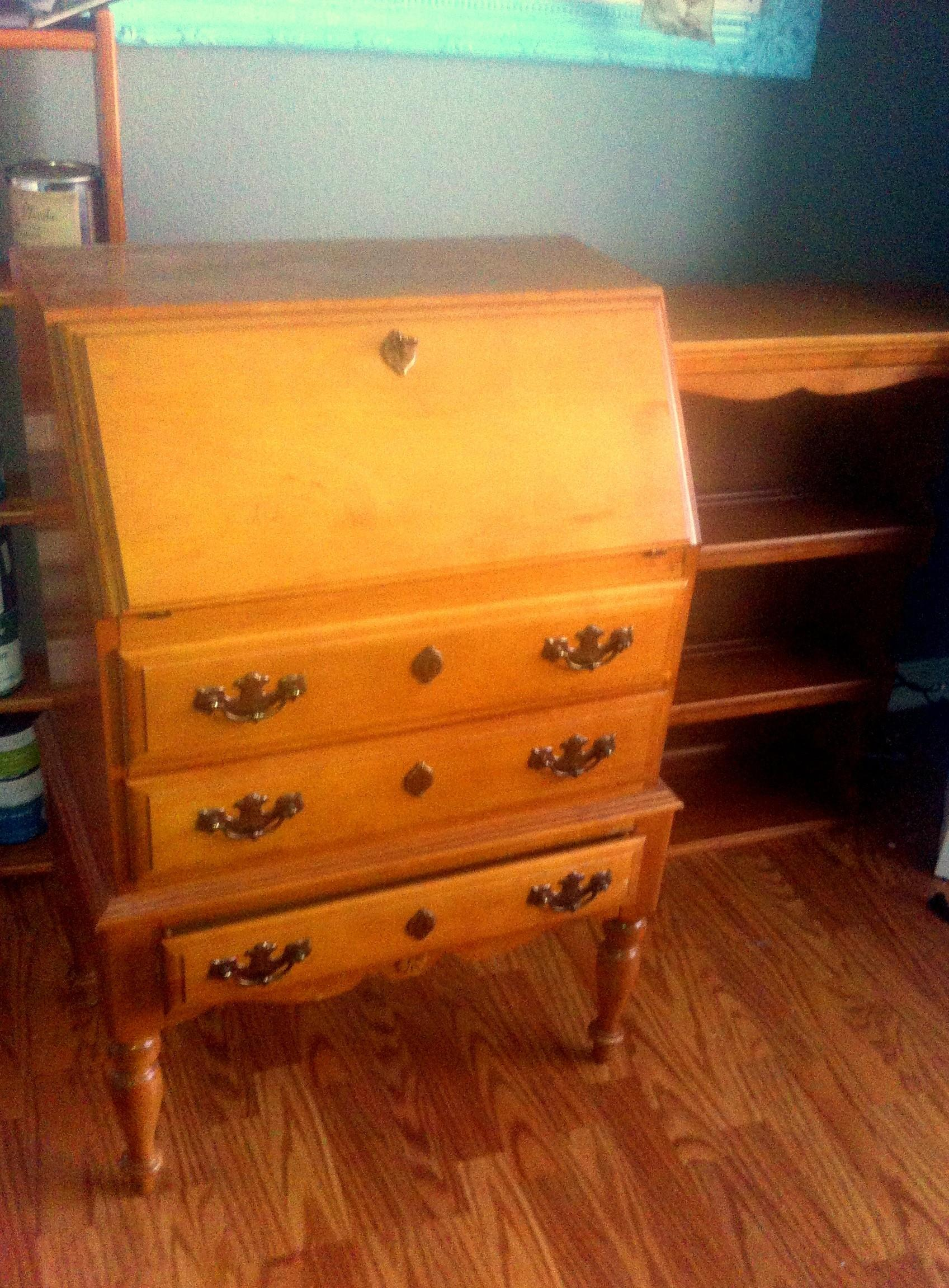 Antique Secretary Desk Before After Decorate Life