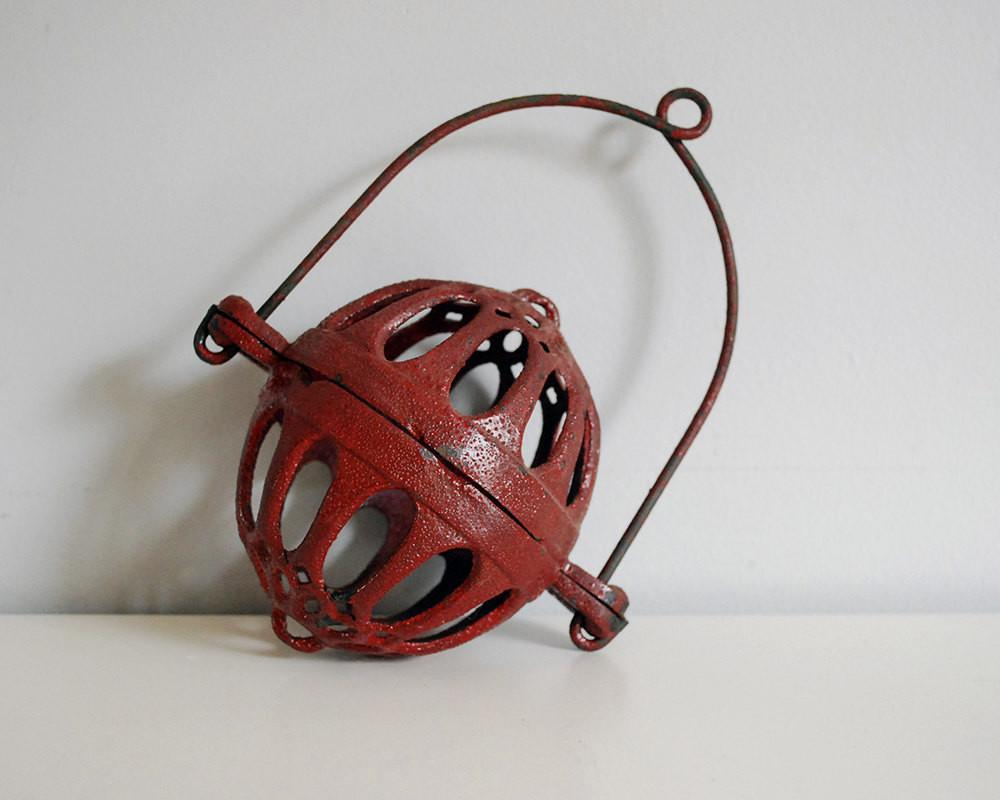 Antique String Holder Cast Iron Ball Rustic General Store