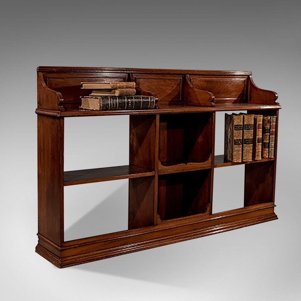 Antique Walnut Bookcase Display Shelves Antiques Atlas