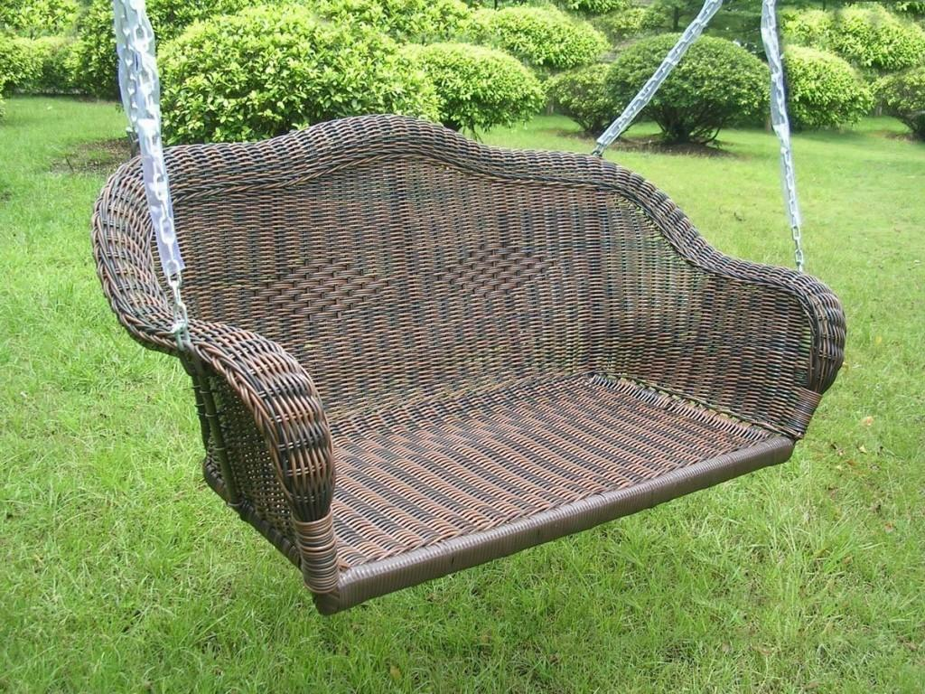 Antique Wicker Rocking Chair Into Glass Dreamed