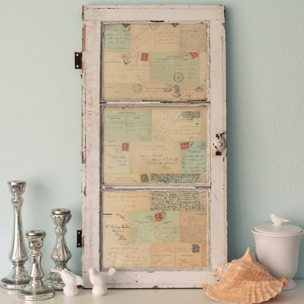 Antique Window French Postcards Decor Wall Art