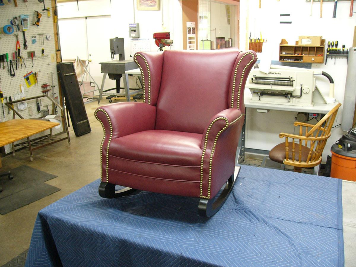 Antique Wingback Rocking Chair