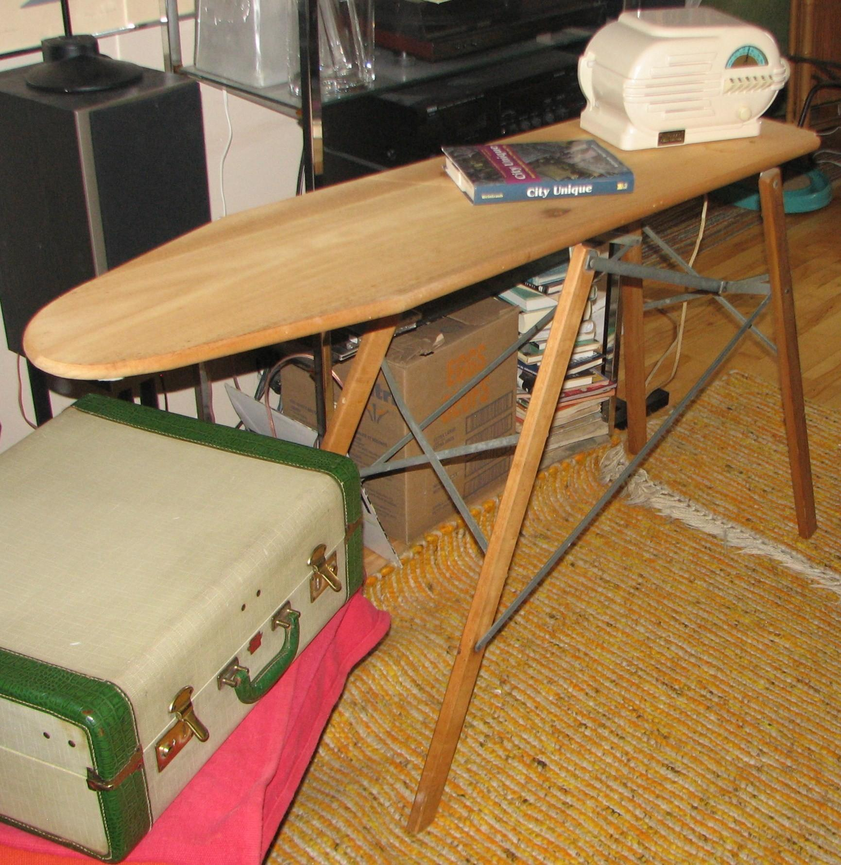 Antique Wood Ironing Board Cool Decorator Piece Another