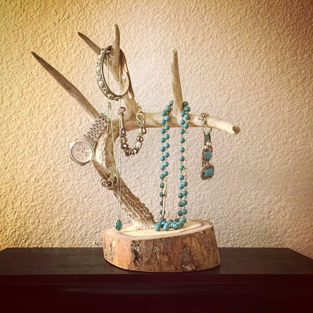 Antler Jewelry Holder Real Deer Turquoiseowldesign