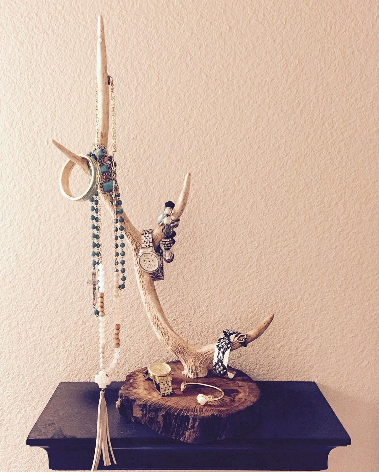 Antler Jewelry Holder Sika
