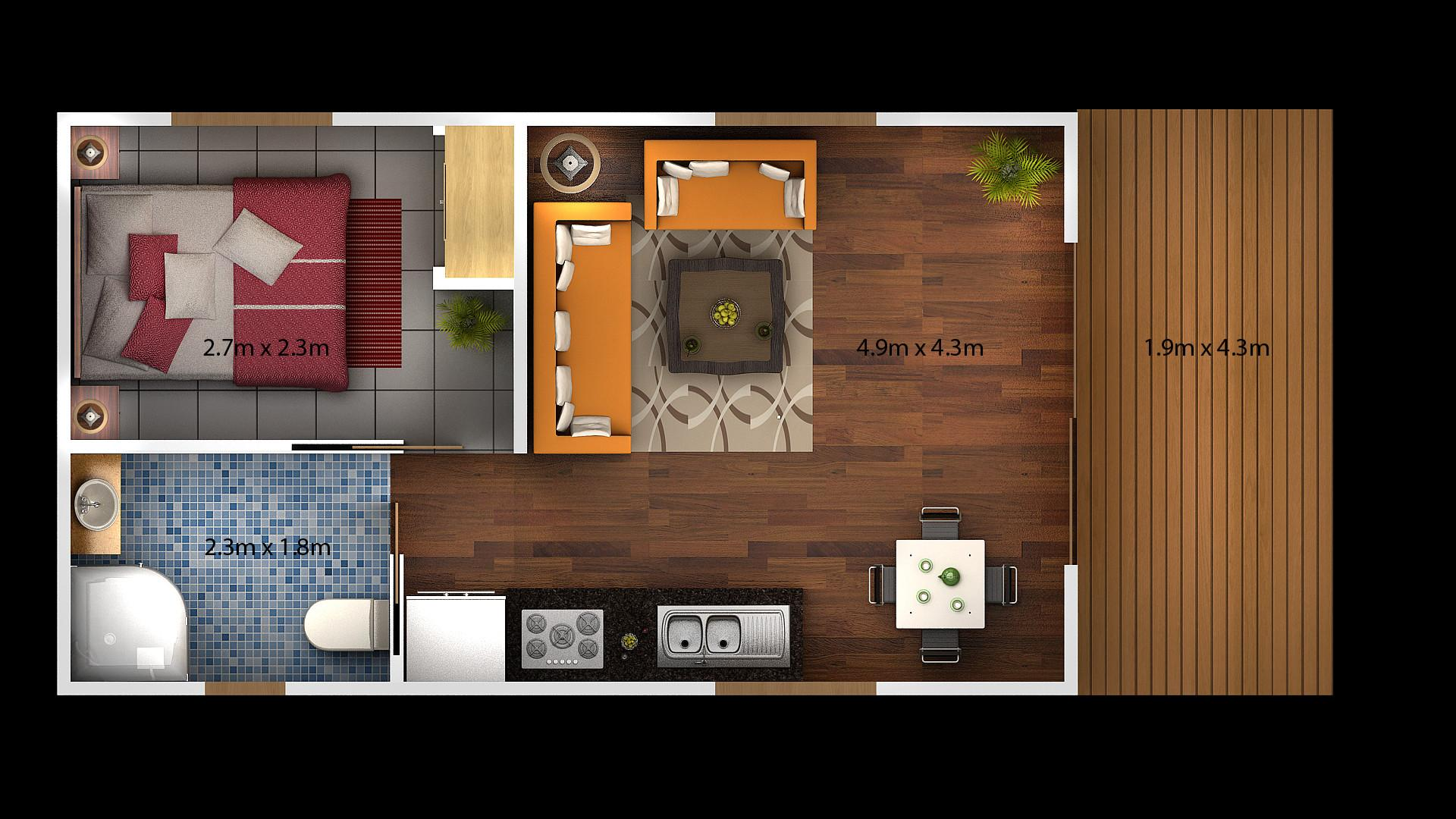 Apartment Floor Plans One Bedroom Apartments