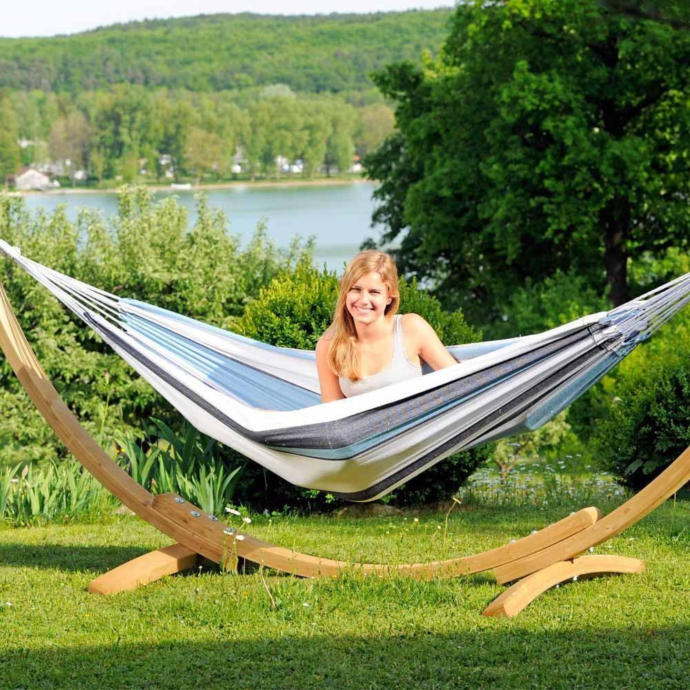 Apollo Garden Hammock Wooden Stand Spa Living