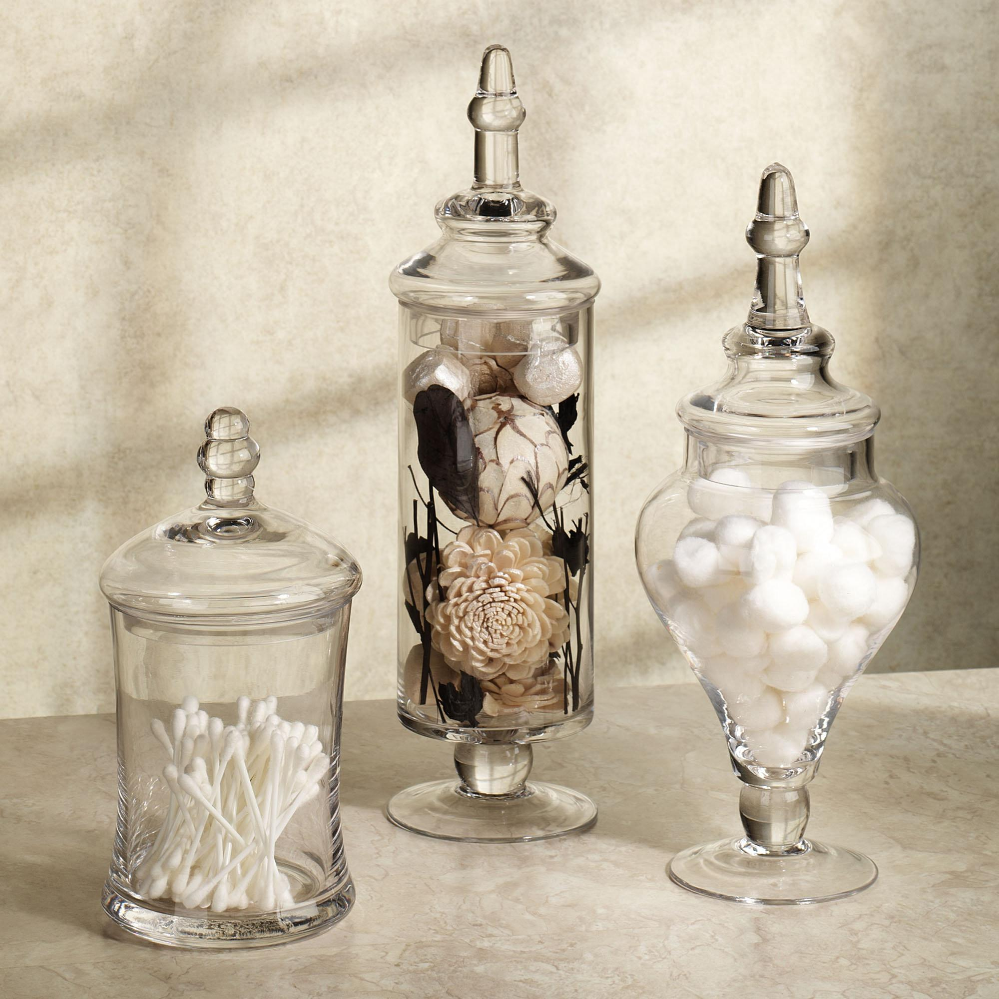 Apothecary Bath Accessories Appealing Glass