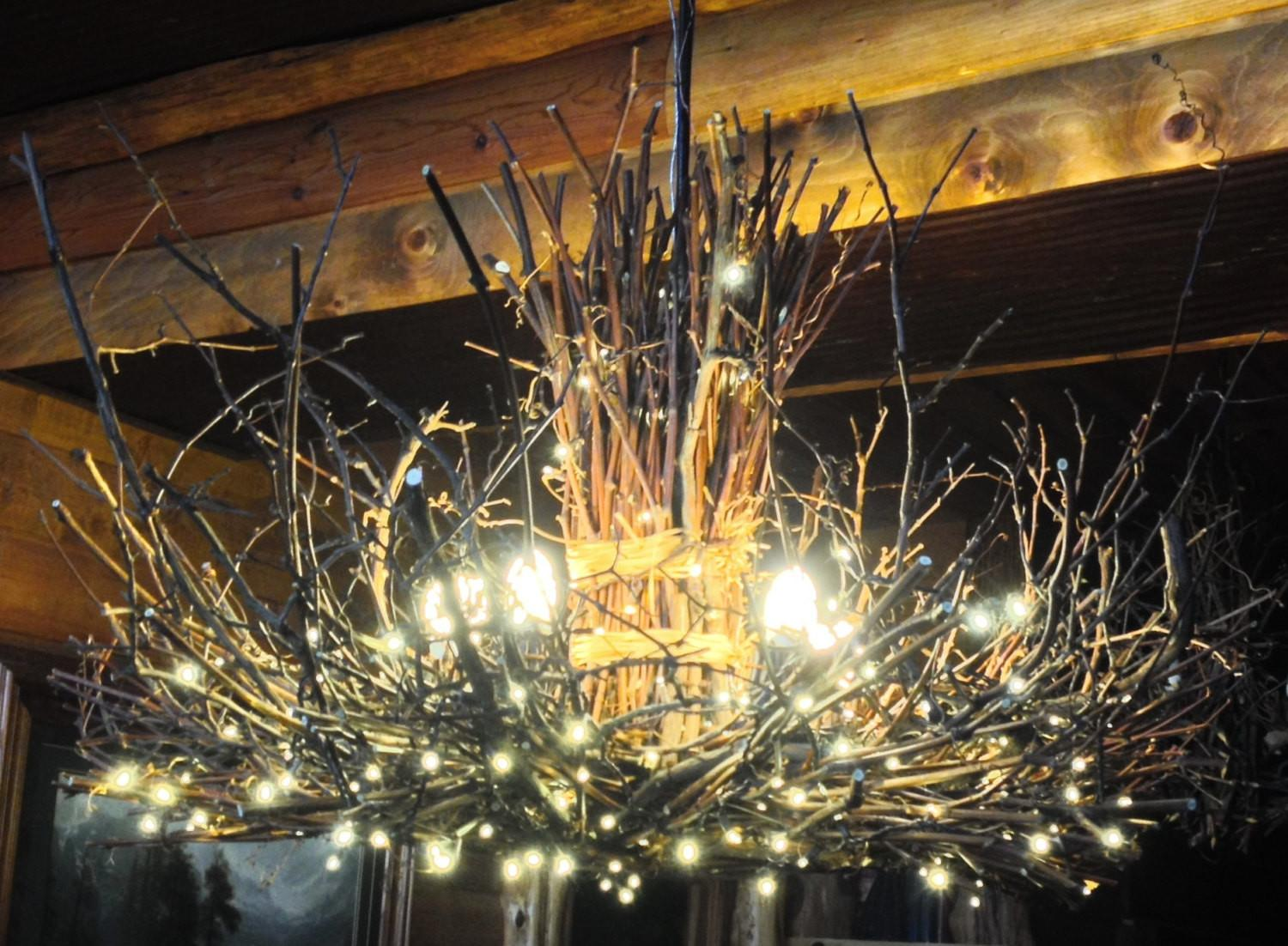 Appalachian Rustic Outdoor Chandelier Candle