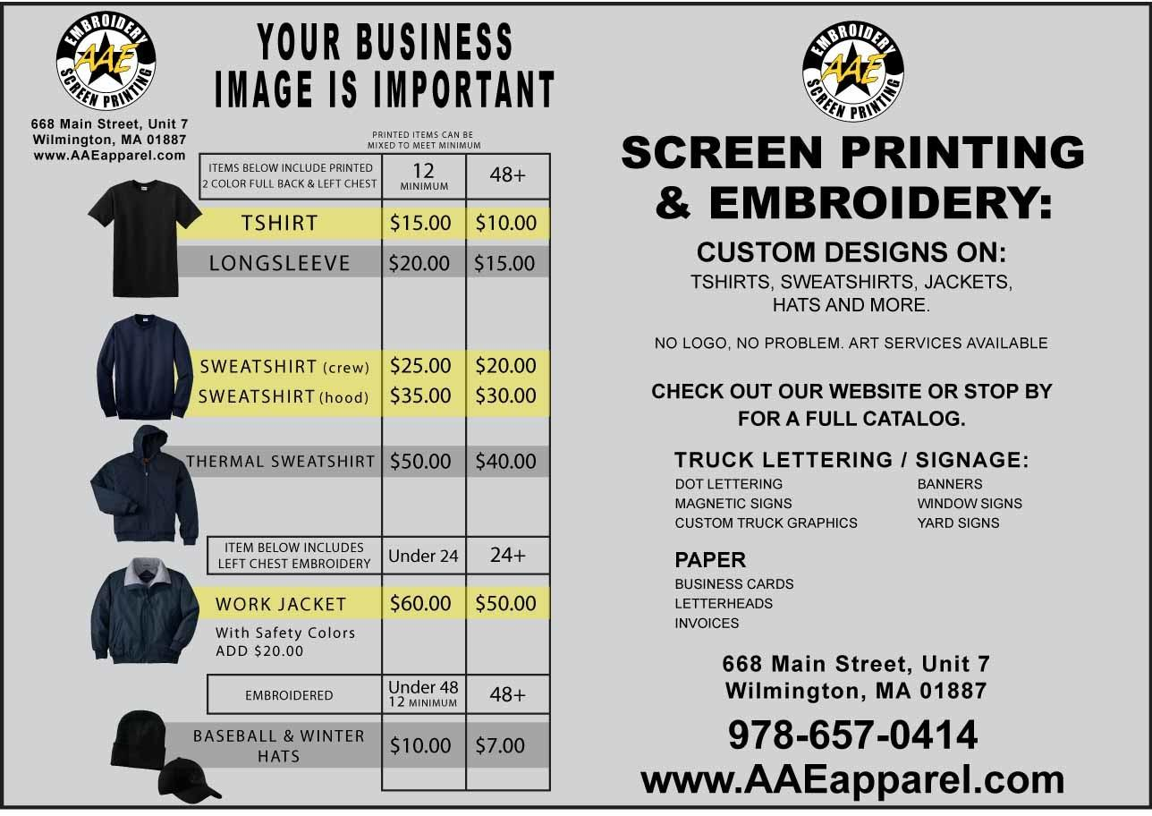 Apparel Embroidery Screen Printing Inc