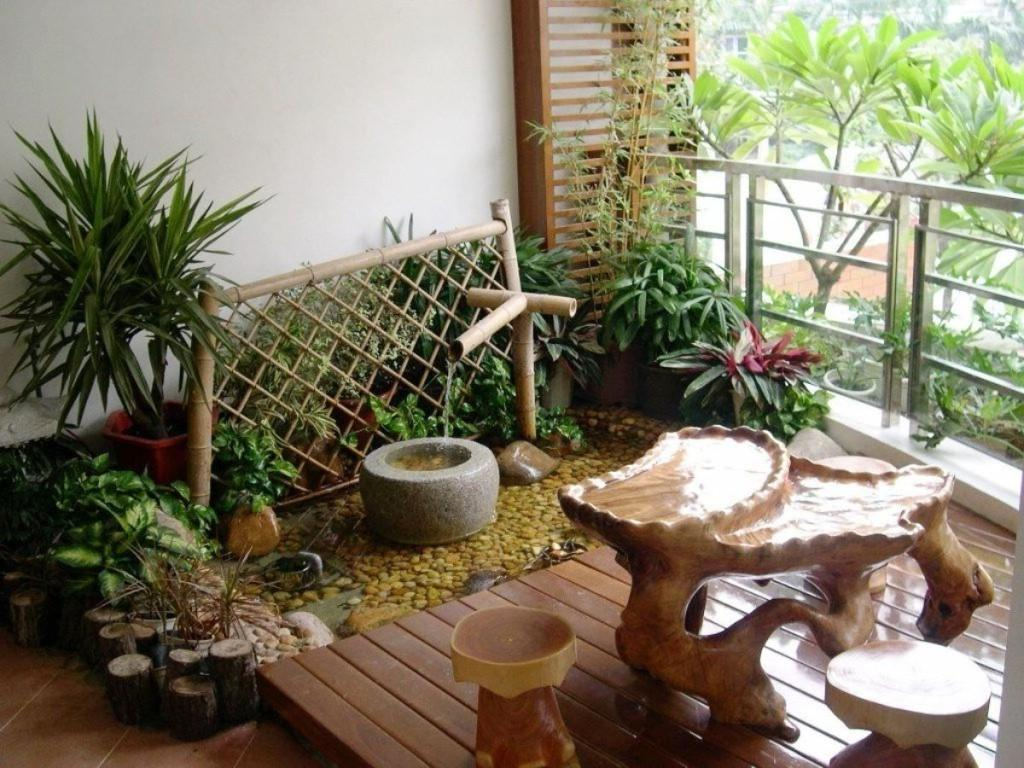 Appealing Small Balcony Garden Which Enhanced