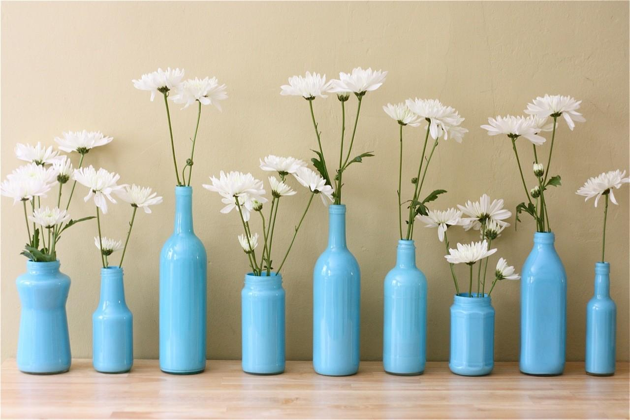 Apple Crate Painted Bottle Vases