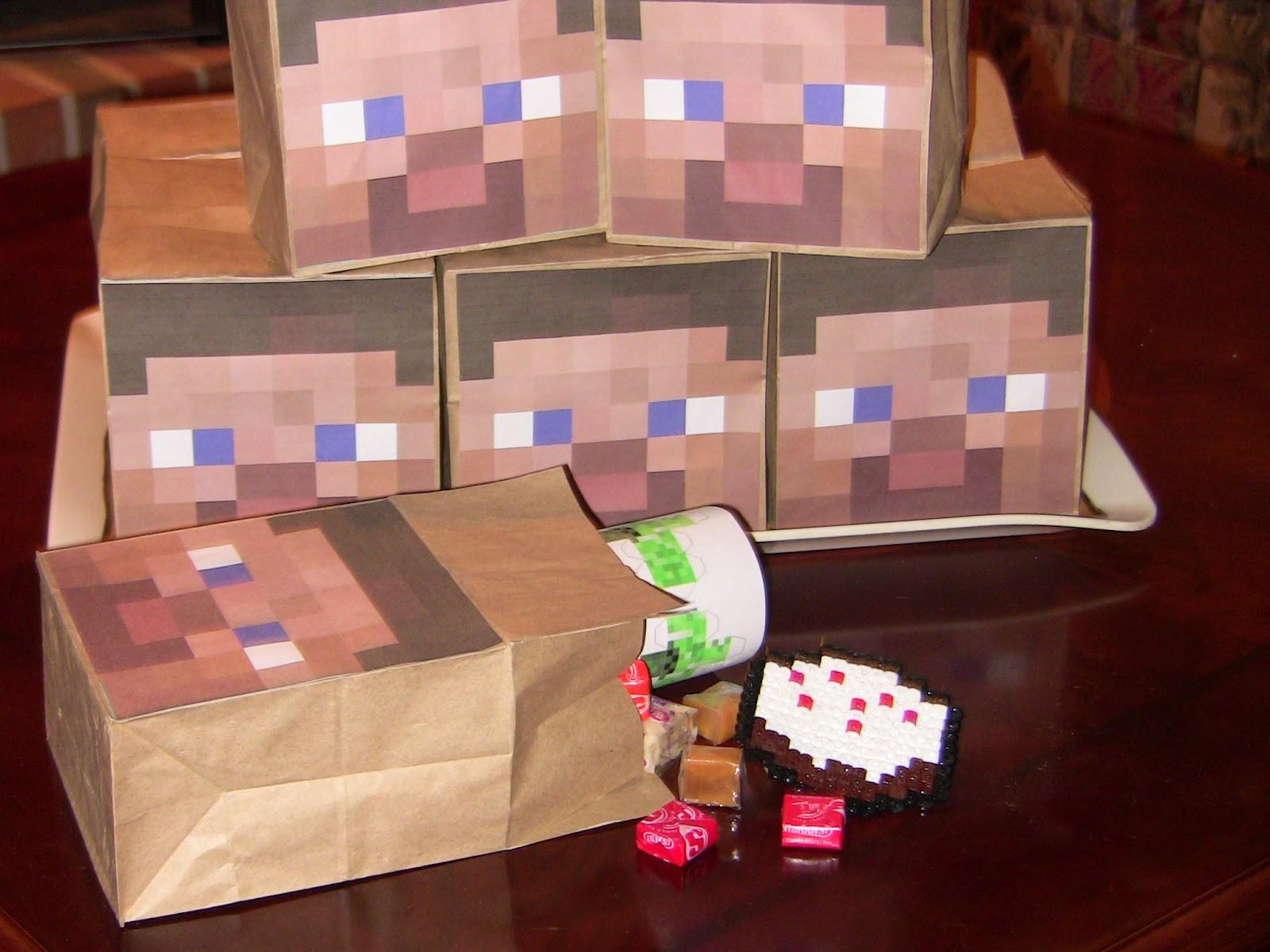 Apple Falls Minecraft Party Games Favors Decorations