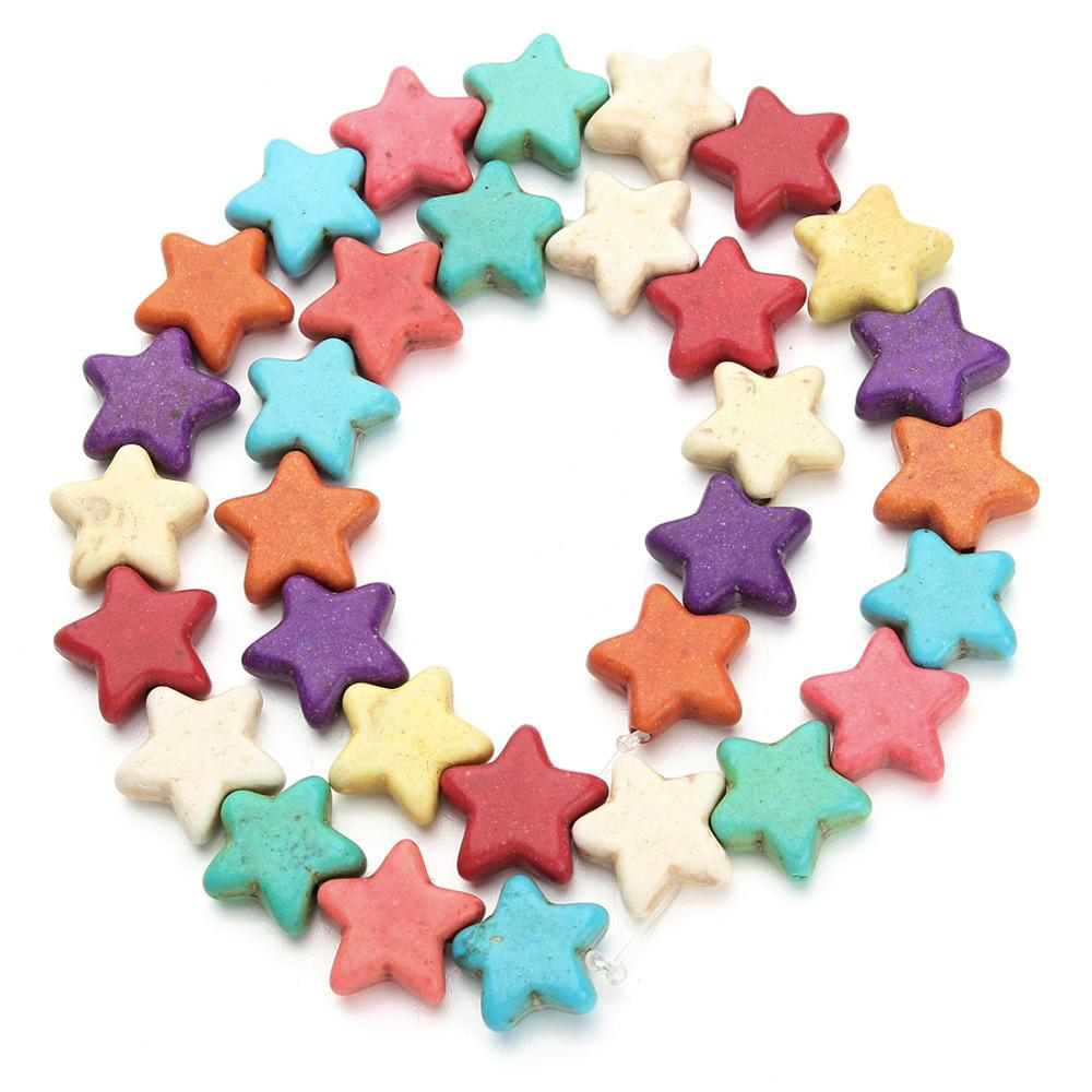 Approx 32pcs Pack 14mm Star Colorful Spacer Beads Loose