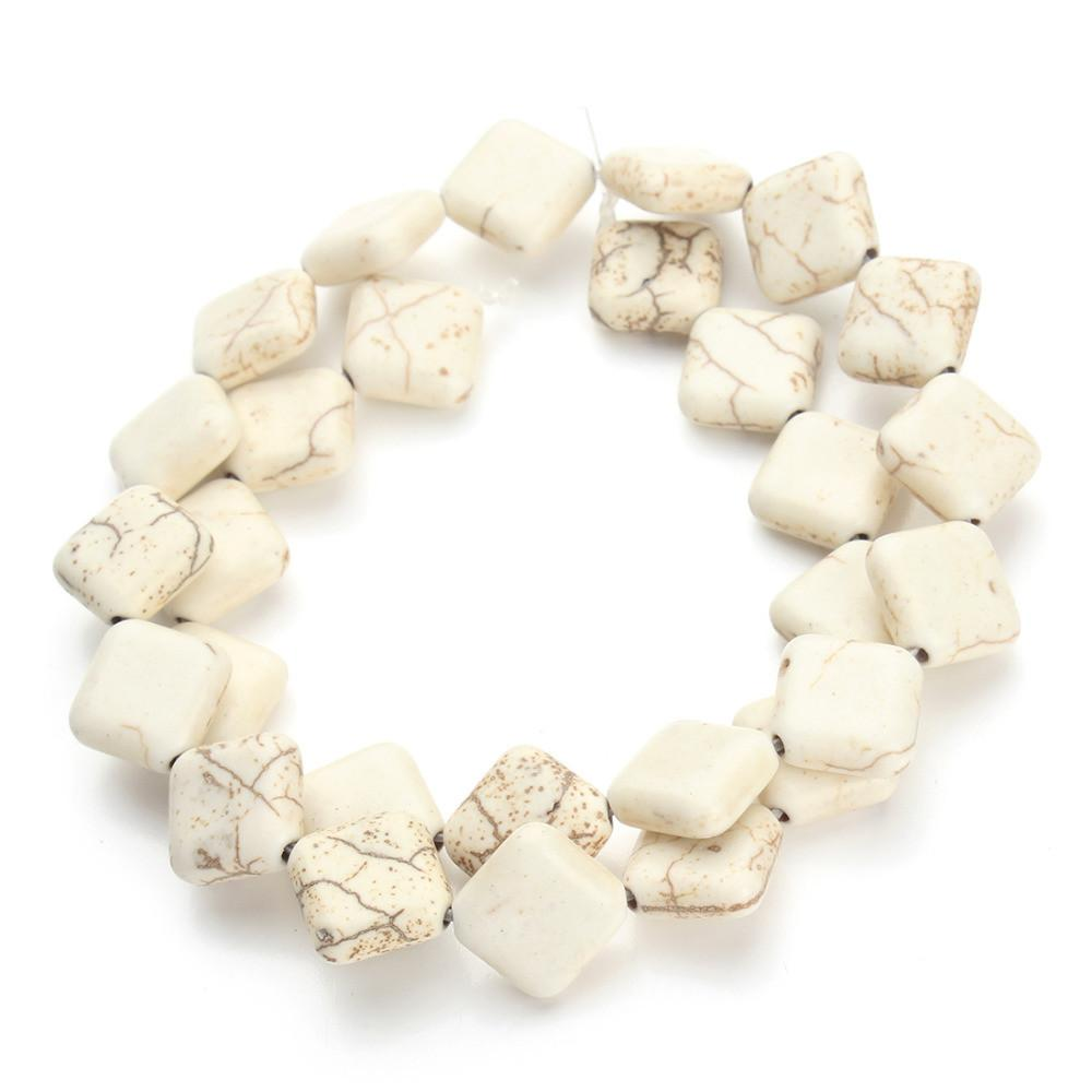 Approx Pcs Lot White Square Loose Turquoise Beads