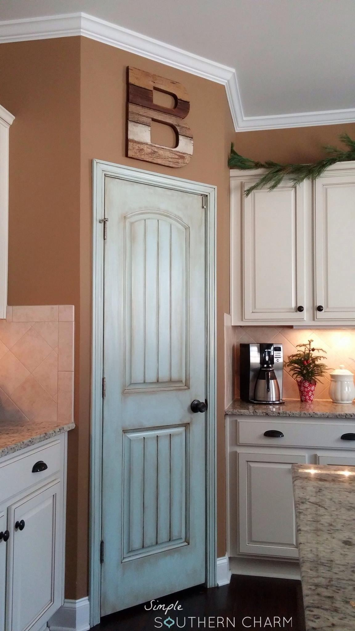 Aqua Pantry Door Simple Southern Charm