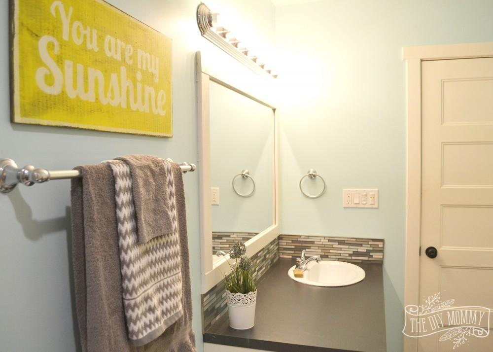 Aqua Yellow Grey Bathroom Sets