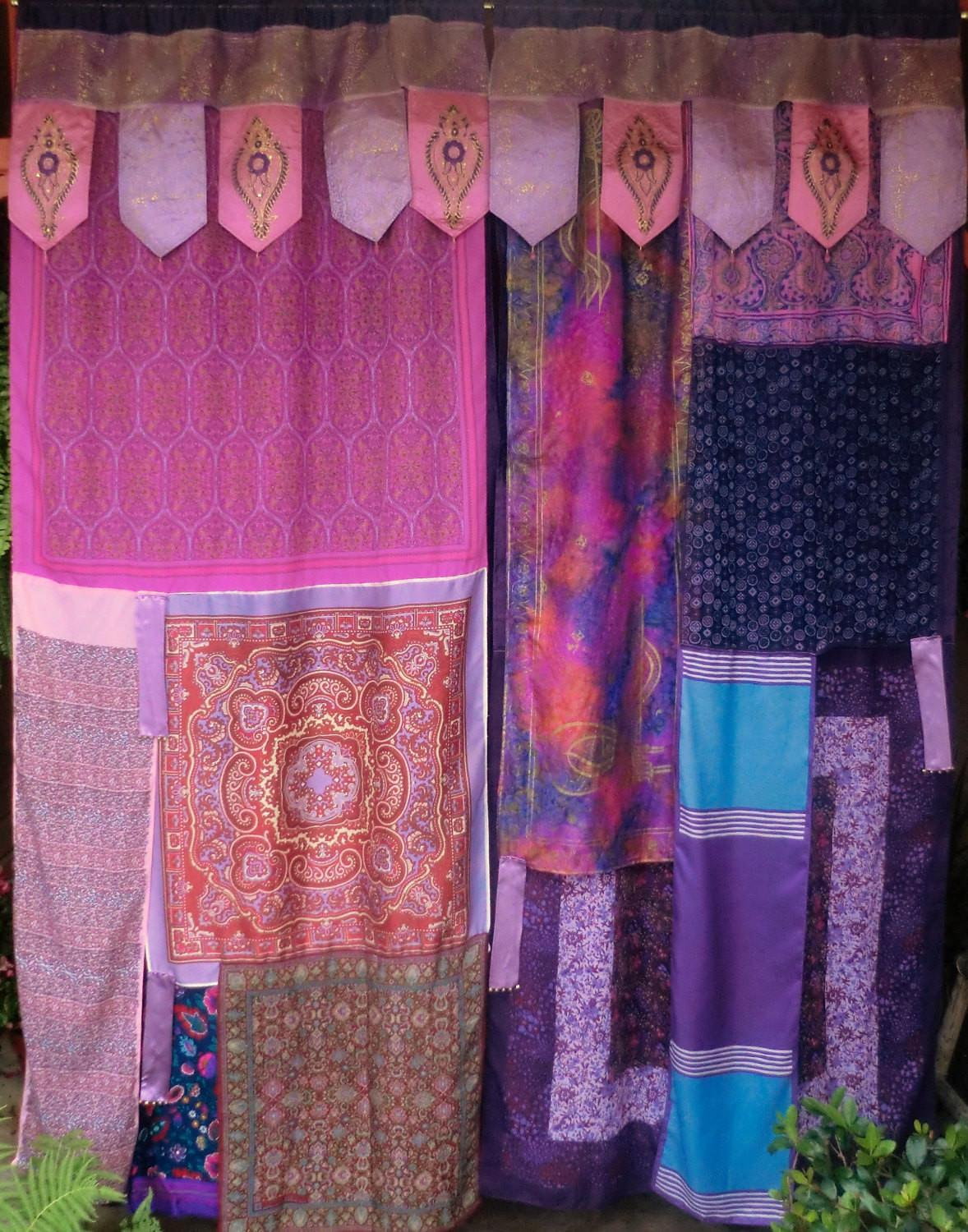 Arabian Nights Handmade Gypsy Curtains Bohemian Hippie