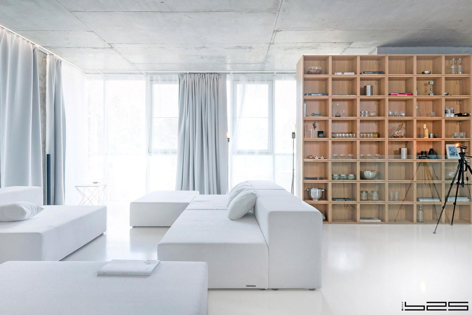 Arch 625 Design Minimalist Apartment Moscow Russia