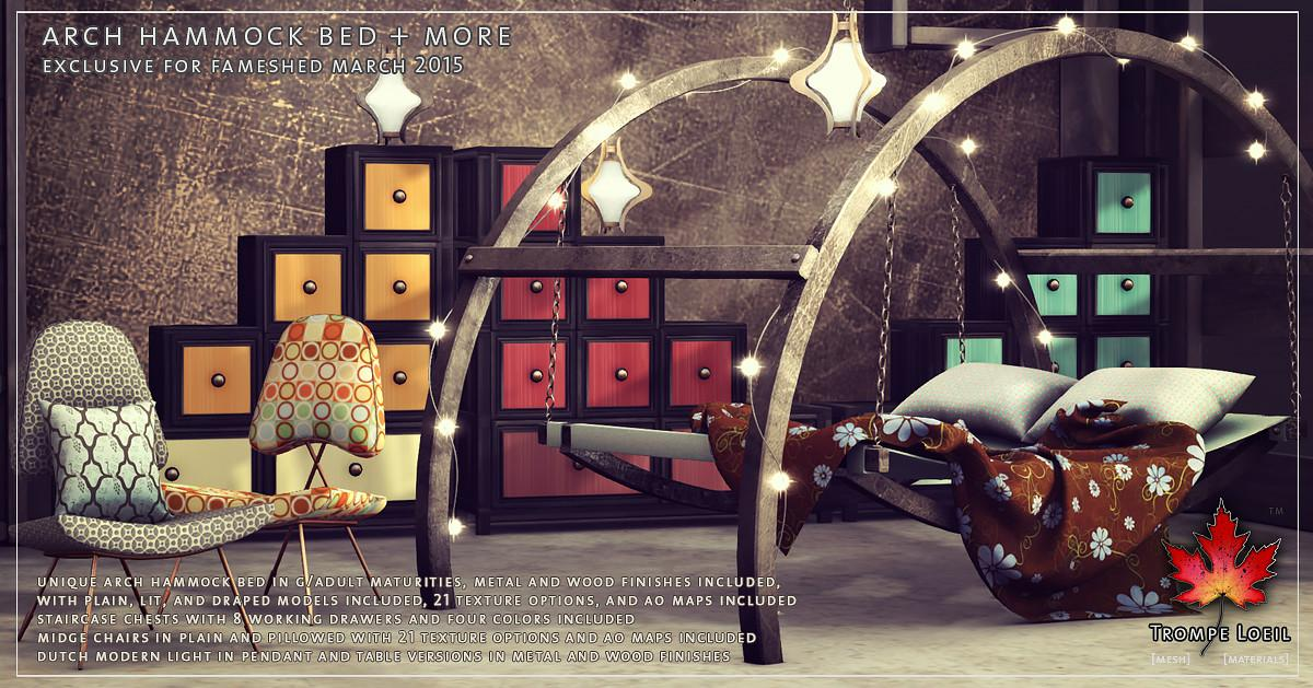 Arch Hammock Bed More Fameshed March Trompe Loeil