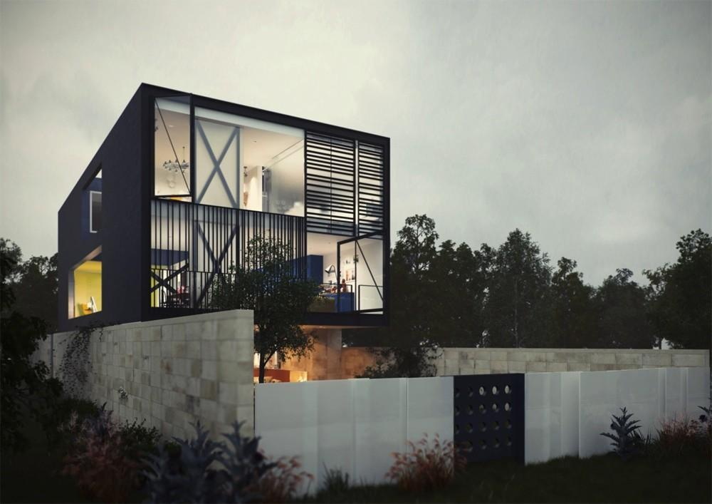 Architectural Concept Glass Box Home