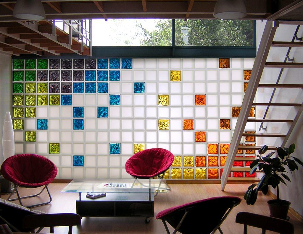Architectural Elements Colorful Glass Blocks